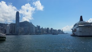 An image of Victoria Harbour in Hong Kong