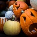 An image of spooky pumpkins