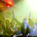 An image of students in a nightclub