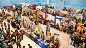An image of a UCAS Fair being held at the University of Kent