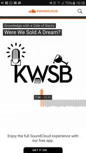 An image of the KWSB radio show on soundcloud