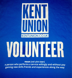 An image of Kent Union volunteering poster