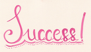An image graphic of the word success