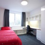 An image of a university of kent student bedroom