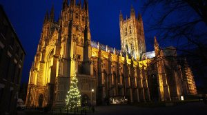 an image of canterbury cathedral at christmas