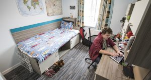 An image of a university of kent student in their bedroom