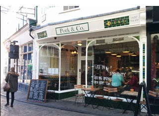 Pork and Co cafe in Canterbury