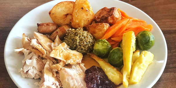 An image of a Christmas dinner