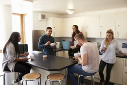 University of Kent students in their student accommodation