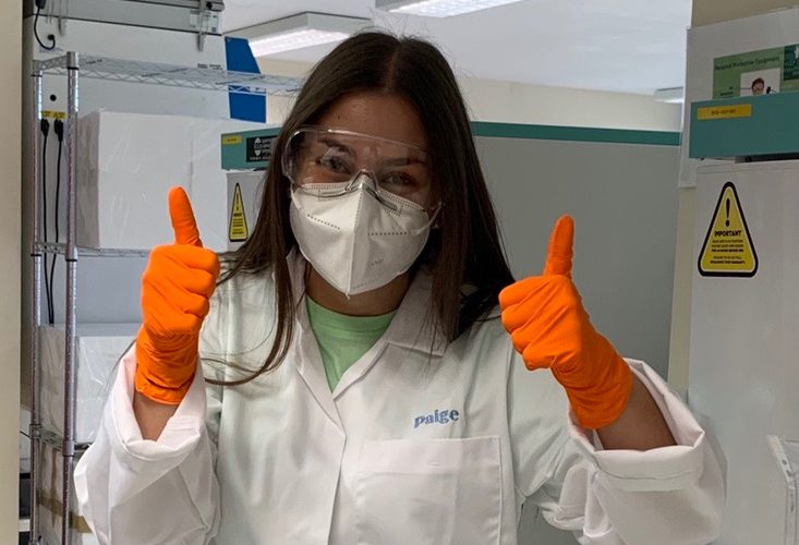 Student in PPE in labs