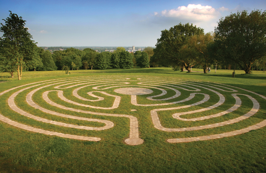 A maze on the Kent campus