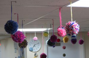 The glorious pom pom ceiling