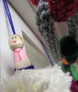 Clothes peg and pom pom fairy
