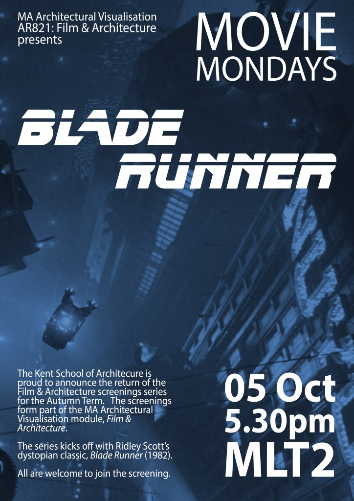 Movie Mondays Poster 2015 - Blade Runner
