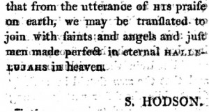 From Septimus Hodson (Ed.), Psalms & Hymns selected for Congregational Use (1801), p. viii