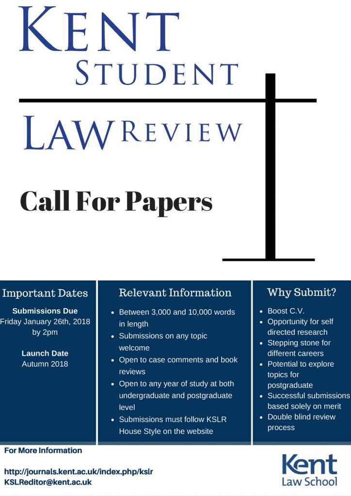 Kent Student Law Review – Kent Law School News