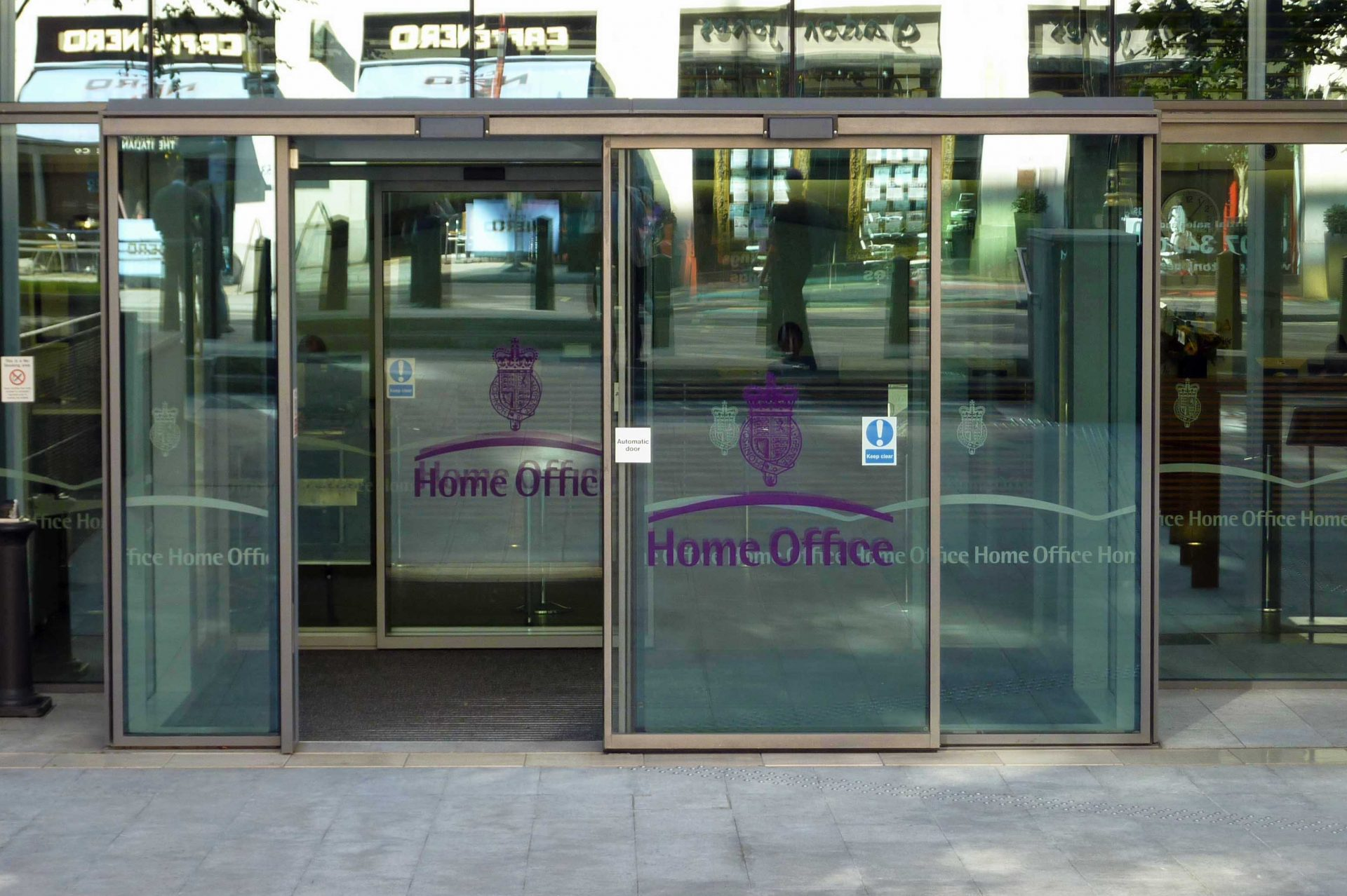 Image showing front doors of the UK Home Office building