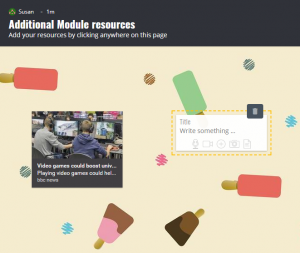 Screenshot of a Padlet