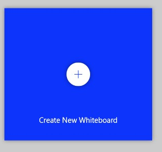 A screenshot of the button to create a new Whiteboard