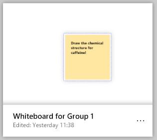 A screenshot of the renamed whiteboard in the dashboard