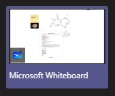 A screenshot of the microsoft whiteboard window as it appears in the microsoft teams meeting share options