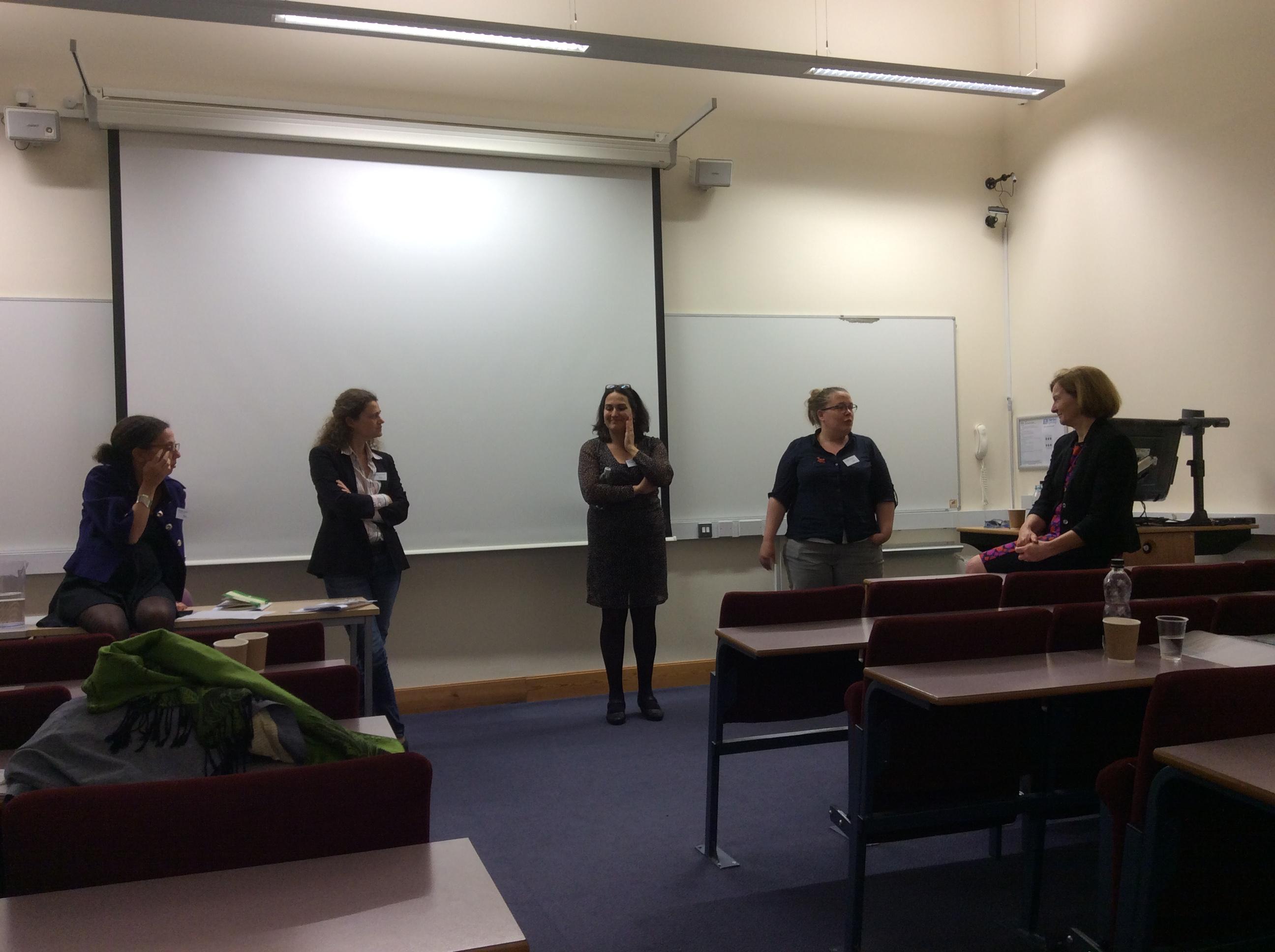 Conclusion / Roundtable. From the left: Dr Sophia Labadi, Dr Sophie Vigneron, Dr Ana Pereira Roders, Dr Loes Vedlpaus, Prof Elisabeth Brabec