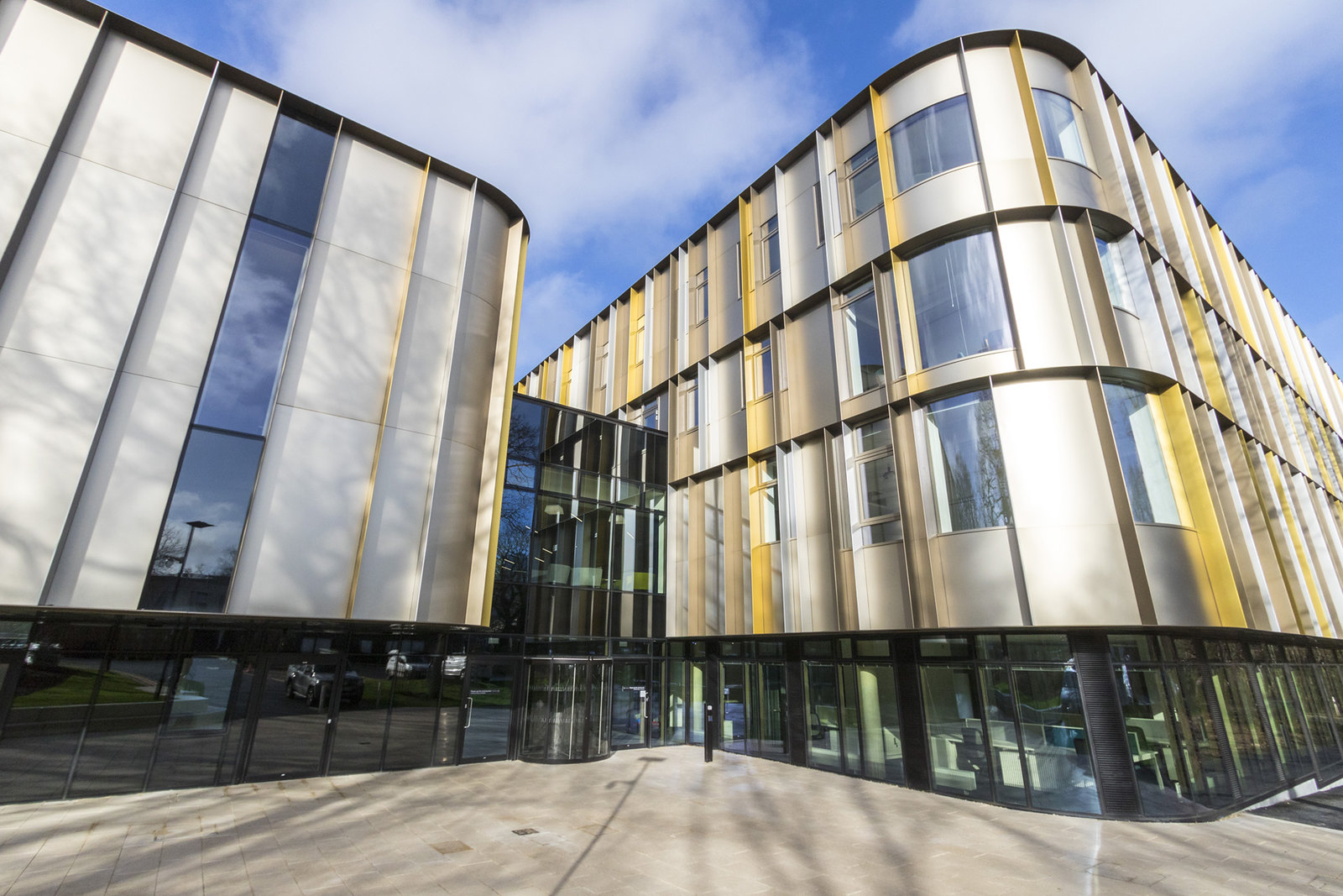 A photograph of the Sibson Building at the University of Kent