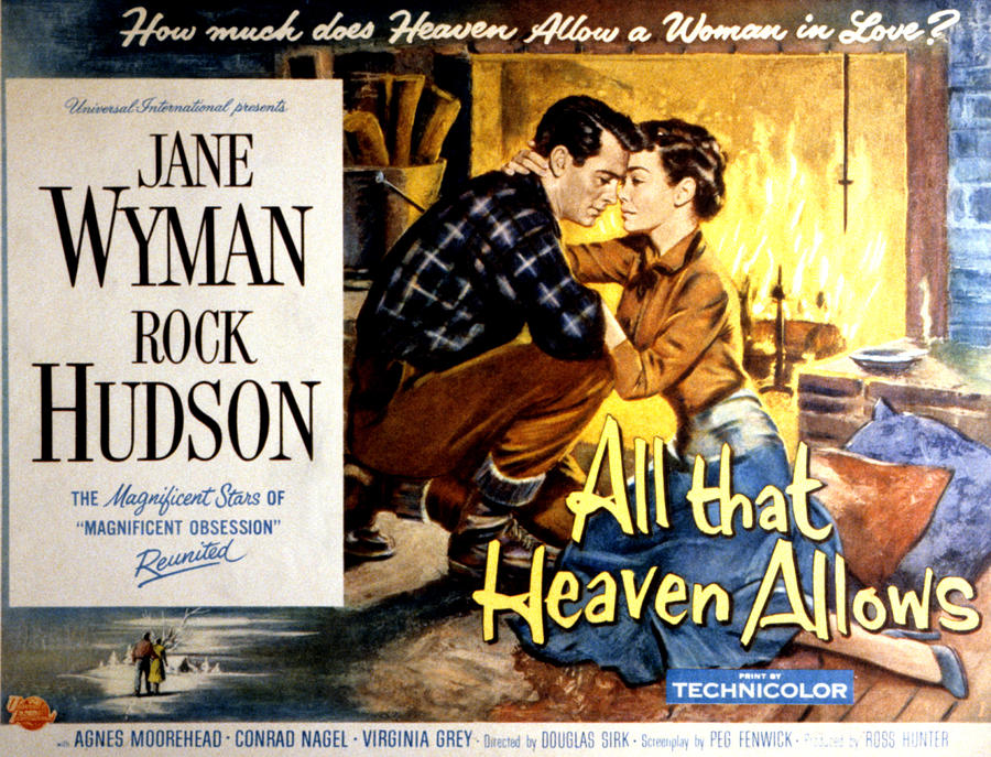 """melodrama and heaven allows Douglas sirk's stylized melodrama, """"all that heaven allows,"""" is set in stonington,  connecticut, a seemingly perfect town to live in, and an ideal."""