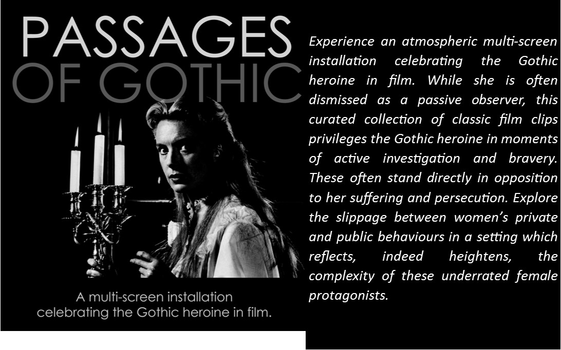 Passages of Gothic Screening in Jarman Gallery on 3rd of April