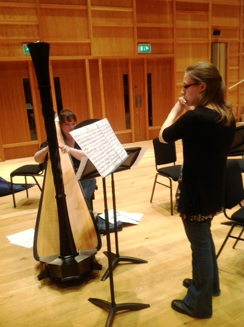 In rehearsal: Emma Murton (l) and Kathryn Redgers
