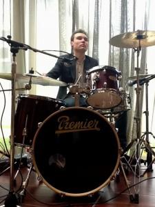 Drumming up business: Cory Adams
