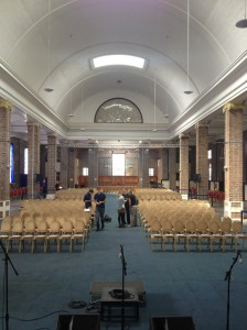 First glimpse of the venue