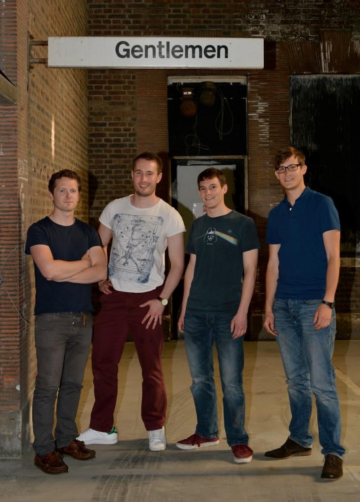 """""""Gentlemen. Introducing… Gentlemen!""""  L-R: Charles Green, Dan Pargeter, Steve Graney, Adam Abo Henriksen"""