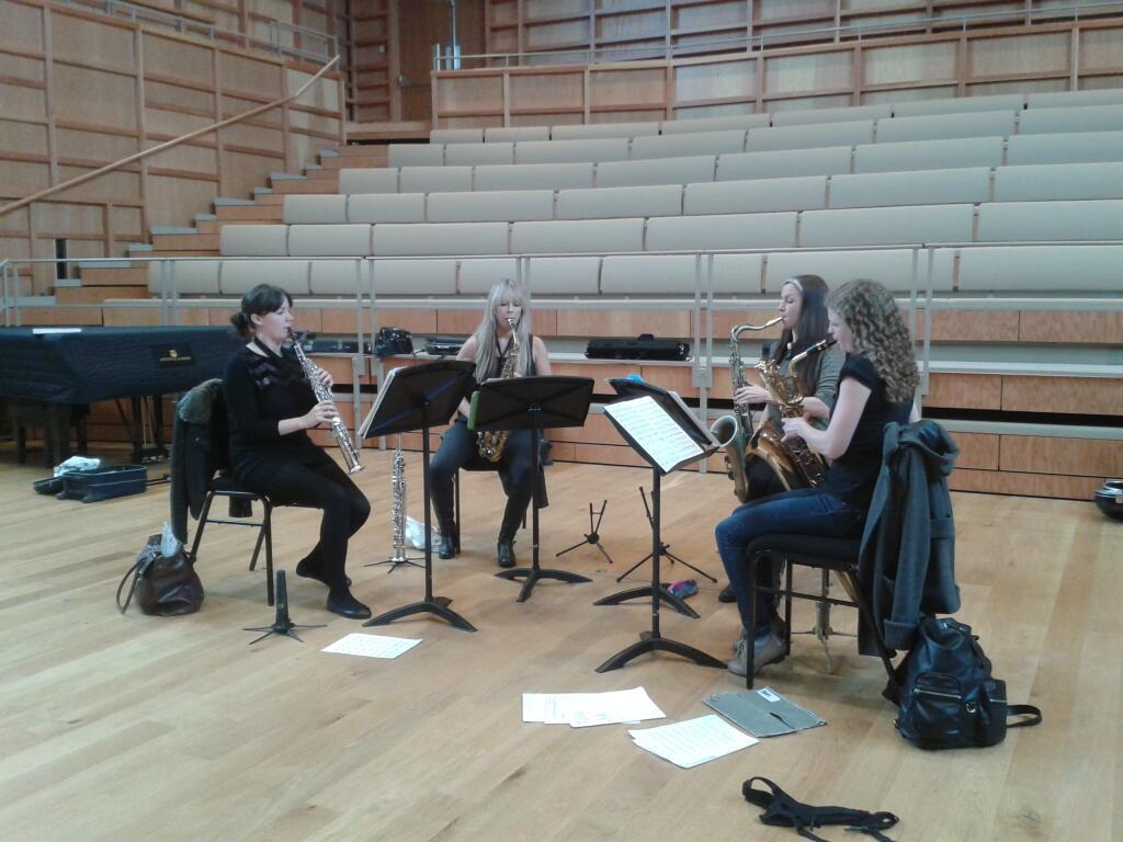 In rehearsal: Marici Saxes