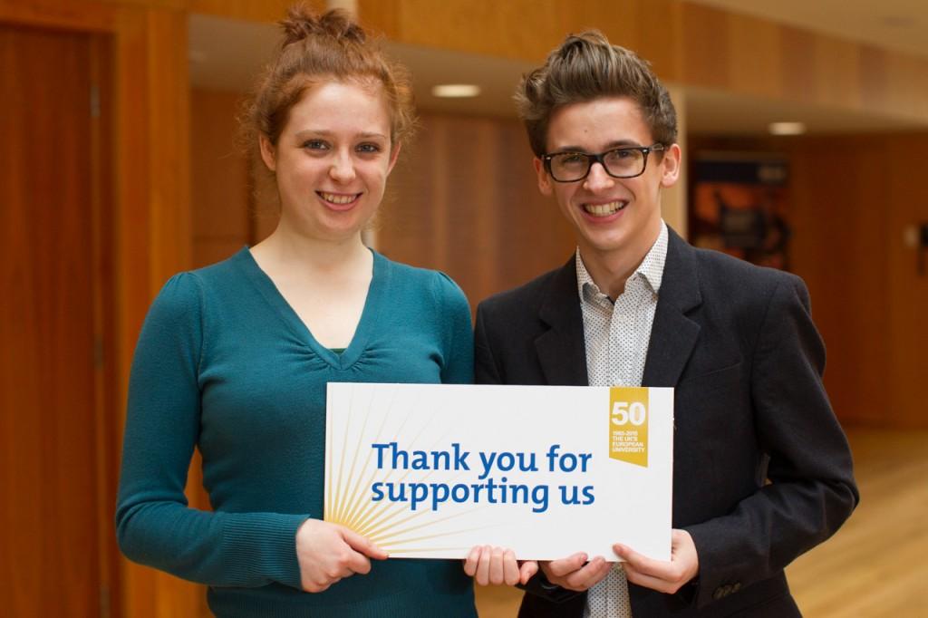 Music Scholars Kathryn Cox and Joe Prescott. Image: Matt Wilson