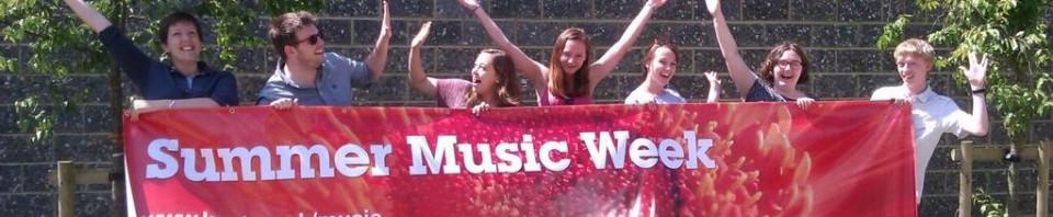 Summer Music banner arrives