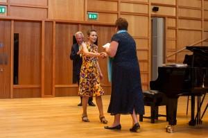 Marina receiving her award from Rosie Turner