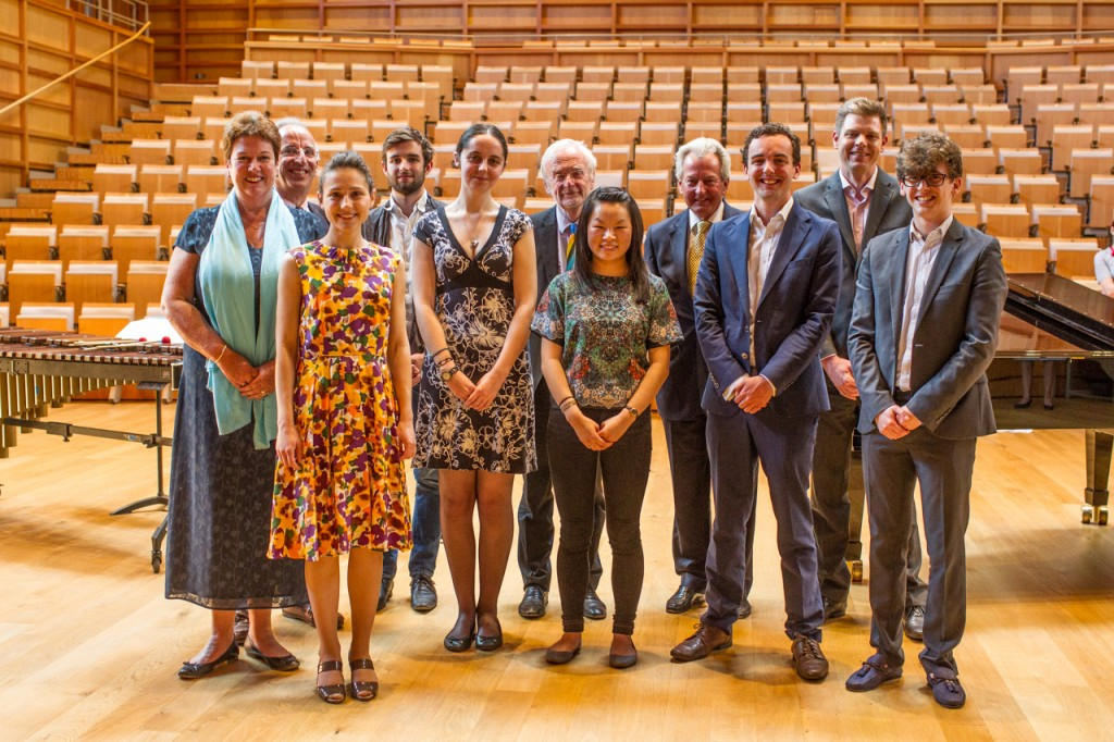 The assembled prize-winning students and guests