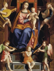 Luini: Madonna and Child Enthroned with Angels