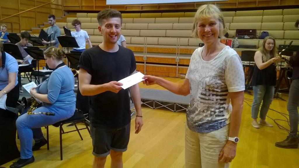 Top brass: Jasper Rose receives his award