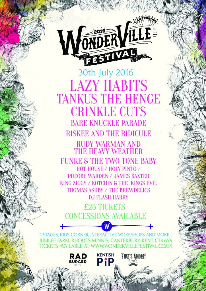 WonderVille line-up: click to view