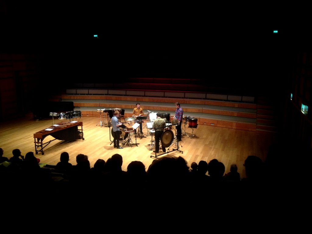 Kopanya ensemble in John Cage's 'Quartet for Percussion'