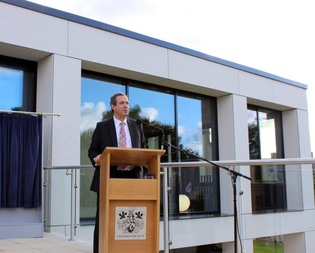 The Right Hon Charles Wigoder at the launch of the new building. Image: Kent Law Campaign
