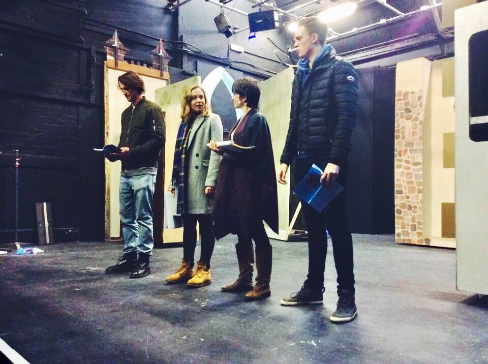 Livy Potter (second from left) in rehearsal