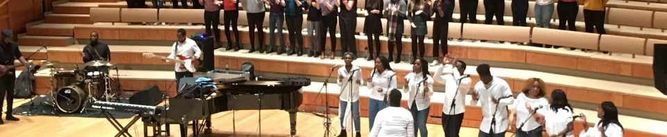 Making singing exciting: students work with the London Community Gospel Choir