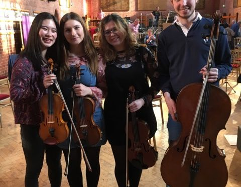 String Scholars have an eggcellent time at the Easter Orchestra week
