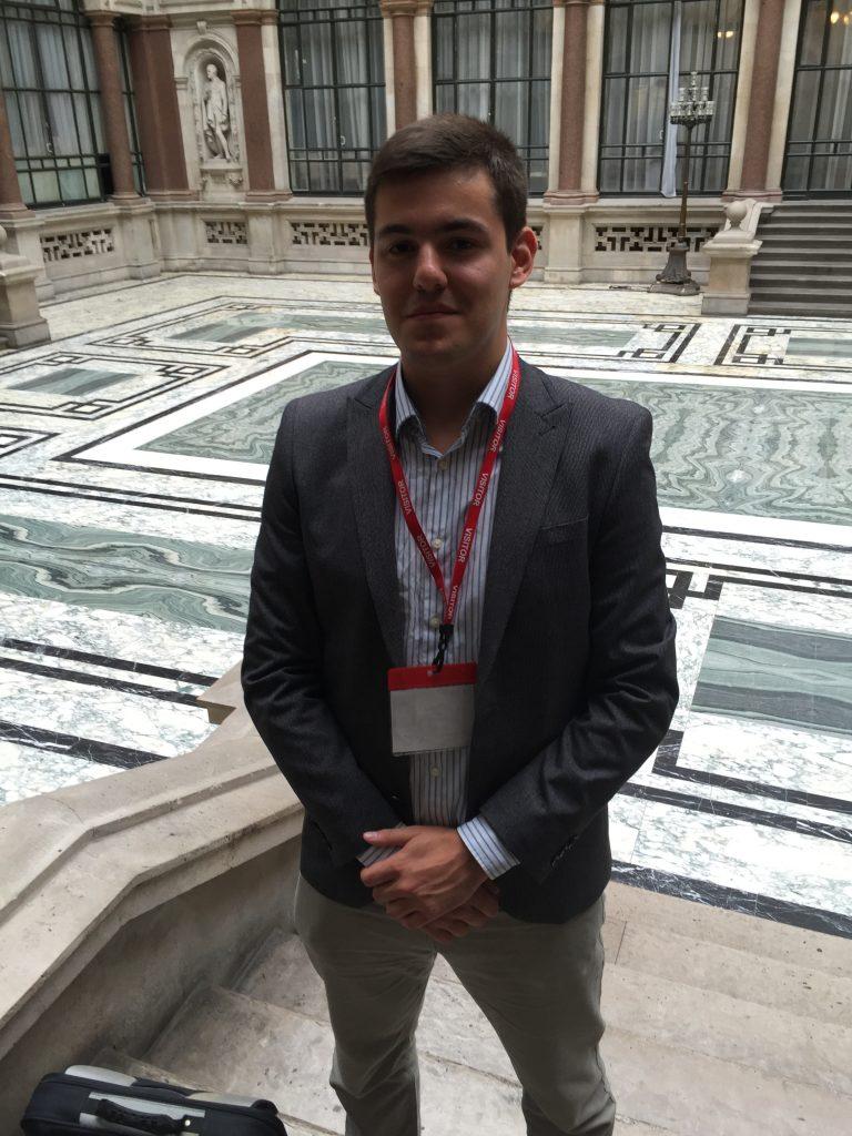Adam standing in Durbar Court
