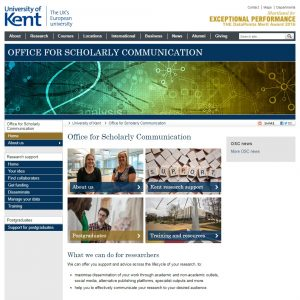 OSC website home page