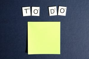 'To do' over a blank post it note.
