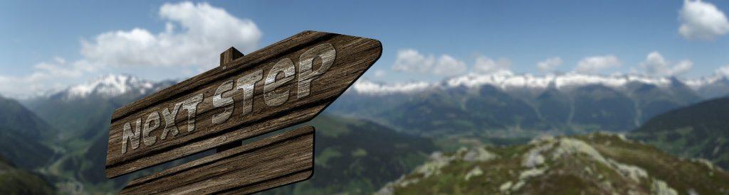 Next steps signpost